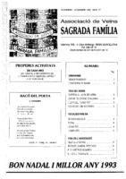 1992 NOVEMBRE – DESEMBRE NÚM. 17 Associació de Veïns SAGRADA FAMÍLIA