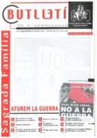 2003 ABRIL – MAIG – JUNY NÚM. 62 Associació de Veïns SAGRADA FAMÍLIA